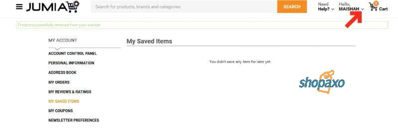 how to cancel an order on Jumia 1