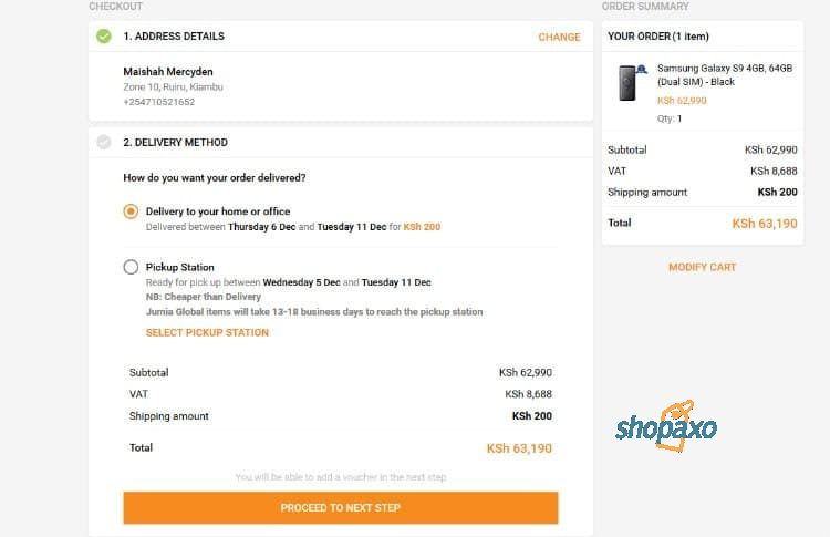 how to place an order on Jumia 5