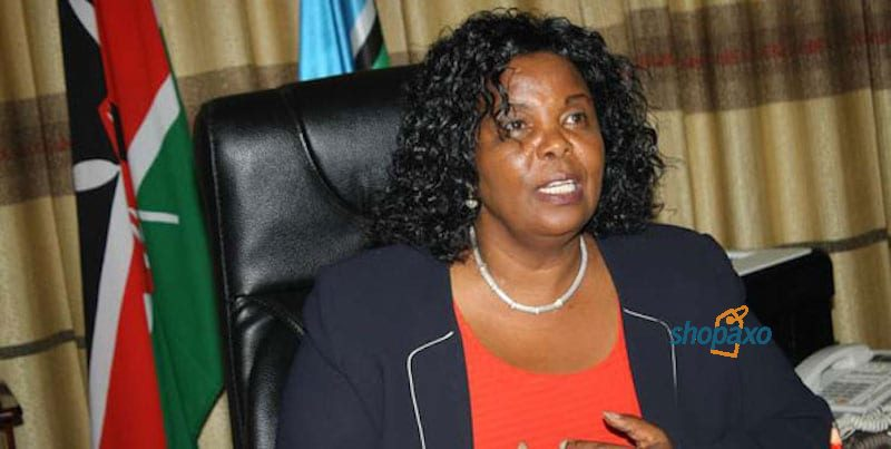 Olive Mugenda the Chair of JSC Sitting allowance